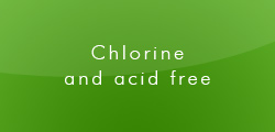 Chlorine and acid free